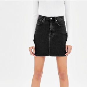 Zara Black Jean Skirt TRF Size S